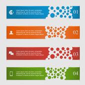 Horizontale infografiken — Stockvektor