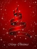 リボン付きクリスマス背景 — ストックベクタ