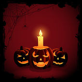 Halloween candle — Stock Vector