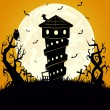 Stock Vector: Halloween scary background