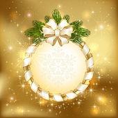 光沢のあるクリスマスの背景 — ストックベクタ