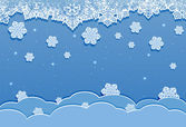 Blue winter background — Stock Vector