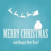 Noel baba ve torba — Stok Vektör