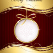 Gold Christmas background — Imagen vectorial