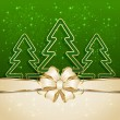 Three Christmas tree — Image vectorielle