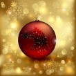 Christmas ball with horse — Imagen vectorial