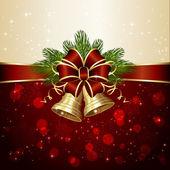 Dekorację świąteczną z dzwonami — Wektor stockowy