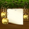 Christmas balls and paper — Vettoriali Stock