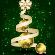 Christmas balls with ribbon and bow — Image vectorielle