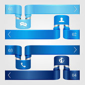 Set of blue infographic — Stock Vector