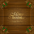 Wooden Christmas background — Stock Vector