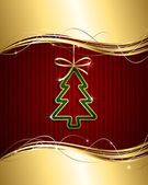 Decoratieve kerstboom — Stockvector
