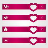 Valentines day infographics — Stock Vector