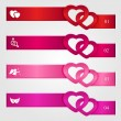 Set of Valentines day infographics — Stock Vector