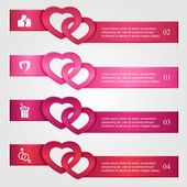 Set of Valentines infographics — Stock Vector