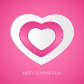 Pink paper hearts — Stock Vector