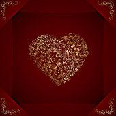 Floral heart — Stockvektor