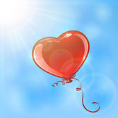 Heart in the sky — Stock Vector