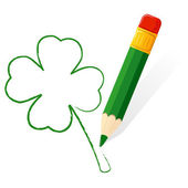 Patrick day paint clover — Stock Vector