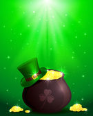 Magic Patricks day background — Stock Vector