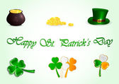 Set of Patricks day icons — Stock Vector