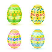 Colored Easter eggs — Cтоковый вектор