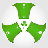 Patricks day infographic — Stock Vector