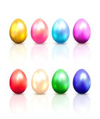 Set of colorful Easter eggs — Stockvector