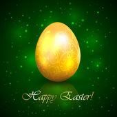 Easter egg on green background — Cтоковый вектор