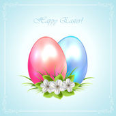 Two decorative Easter eggs — Stockvektor