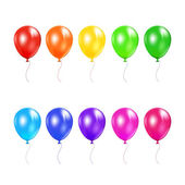 Set of colored balloons — Stock Vector