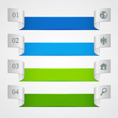 Horizontal infographics — Stock Vector
