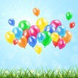Nature background with balloons — Stock Vector #45174439