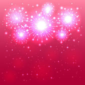 Pink firework — Stock Vector