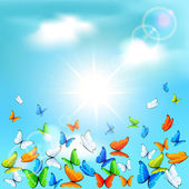空の蝶 — ストックベクタ