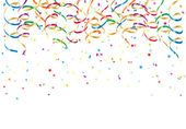 Party streamers and confetti — Stock Vector
