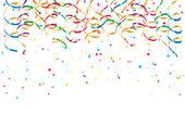 Party luftschlangen und konfetti — Stockvektor