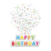 Happy birthday — Vettoriale Stock