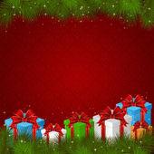 ギフト ボックス クリスマス背景 — ストックベクタ