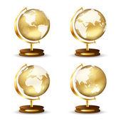 Golden globe — Stock Vector