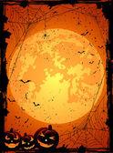 Orange Halloween background — Stock Vector