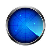 Blaue radar — Stockvektor