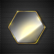 Abstract background with hexagon — Stock Vector #51736953