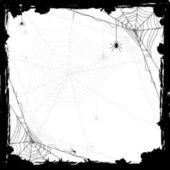 Halloween-hintergrund mit spinnen — Stockvektor