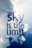 The sky is the limit — Stock Photo