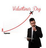Expenses for Valentine's Day Chart. — Stock Photo