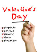 Checklist for Valentine's Day — Stock Photo