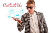 Contact us concept — Stock Photo