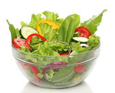 Delicious salad on a bowl isolated over white — Stock Photo
