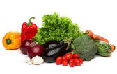 Delicious group of healthy vegetables over white — Stock Photo